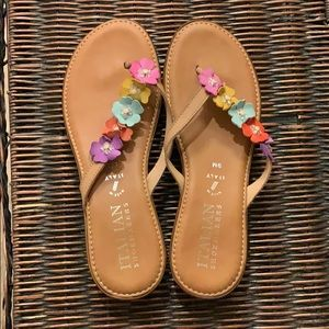 Beautiful flowered sandals